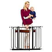 Regalo Home Accents Safety Gate, Black
