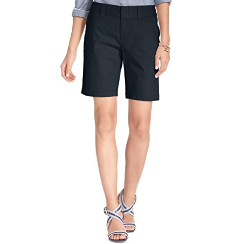 - Tommy Hilfiger Womens Twill Flat Front Bermuda, Walking Shorts Navy 2