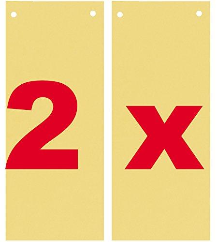 Herlitz Trennstreifen, 240 x 105 mm, Kraftkarton, durchgefärbt, gelocht (200 Stück, Gelb)