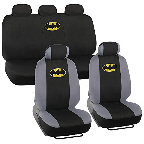 9pc Classic Batman Logo Low Back Seat Covers Bench Seat Cover