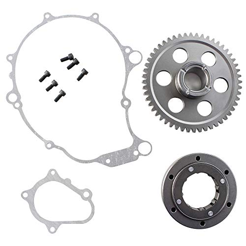 Heavy Duty Starter Clutch One-Way Bearing Gear Kit For 2001-2003 Yamaha Raptor Replaces 5LP-15515-00-00 5LP-15590-00-00