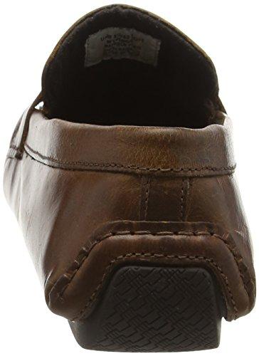 Cranfield Leather Marrone Red Tan Uomo Mocassini Tape TvqgxwcF54