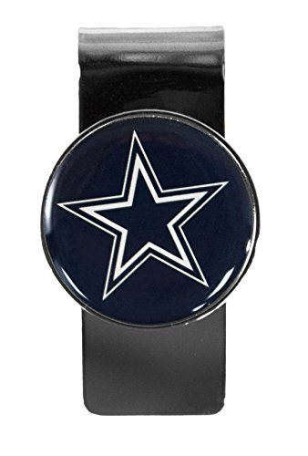 Dallas Cowboys Stainless Steel Dome Money Clip - Dallas Cowboys Money Clip