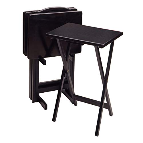 Winsome Wood 22520 Alex Snack Table, Black (Stand Tv Stackable)