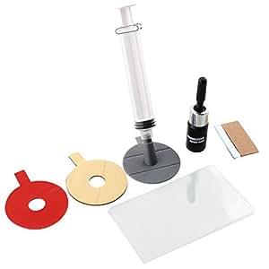 lzndeal 1 Set Parabrisas Reparación Herramienta de Bricolaje Coche Auto Kit Cristal para Chip & Crack