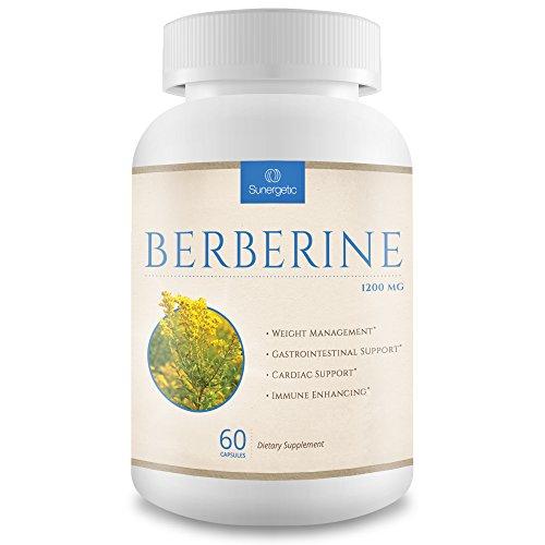 Premium Berberine Supplement -1,200 mg of Berberine Per Serving  Non-GMO Berberine HCI Supplement- Powerful Berberine Health Formula - 60 Berberine Capsules