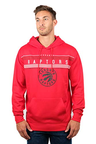 (Ultra Game NBA Toronto Raptors Men's Fleece Hoodie Pullover Sweatshirt  Midtown, Large, Red)