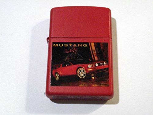 (Zippo Ford Mustang Red Matte 2005 Lighter)