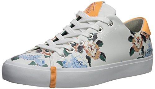 A|X Armani Exchange Women's Floral Patterned Low Cut Sneaker