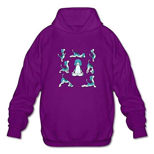Pug Yoga Dog Funny Cute GYMHoody Fashion Hoodie Athletic Long-sleeved Hoody Sweatshirt For Men by SUNG HEE