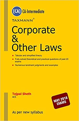 Corporate & Other Laws (CA-Intermediate)(For May 2018 Exams)