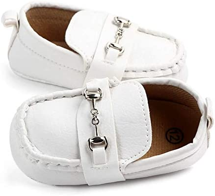 Anrenity Baby Loafers for Infant Boys Girls Crib Flat Boat Shoes Soft Soled Moccasin DDX-004