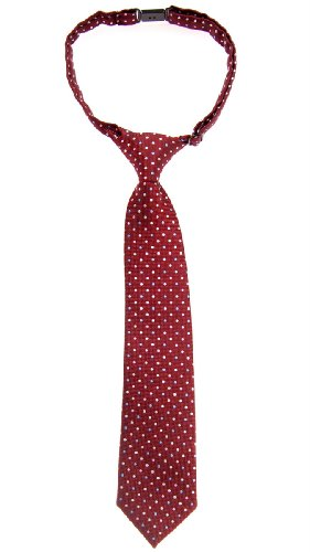 Retreez Vintage Three-Color Polka Dots Woven Pre-tied Boy's Tie - Burgundy - 24 months - 4 years