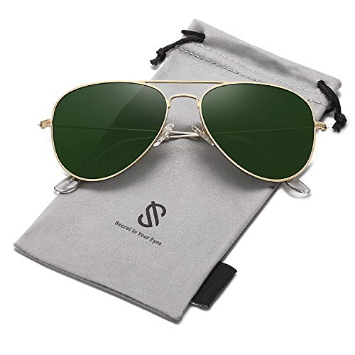 SOJOS Classic Aviator Polarized Sunglasses Mirrored UV400