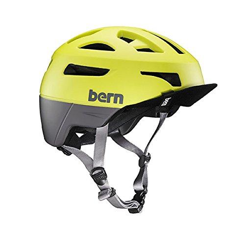 BERN Men's Union Helmet w/Flip Visor Matte Neon Yellow S (Bern Yellow Helmet)