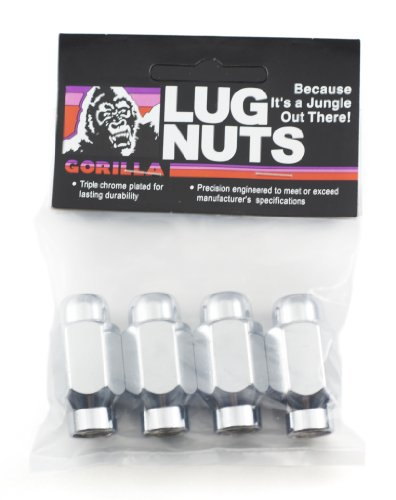 Gorilla Automotive 68137LB E- T/Ultra Long Lug Nuts (12mm x 1.50 Thread Size) by Gorilla Automotive