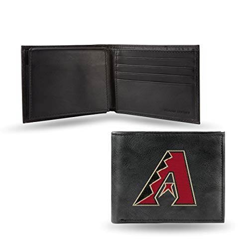 (MLB Arizona Diamondbacks Embroidered Genuine Cowhide Leather Billfold Wallet)