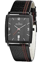 Skagen Men's 680LBLBR Steel Black Dial and Strap Watch