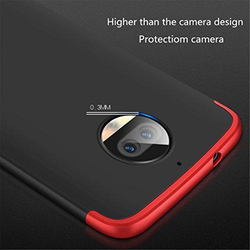 Funda Huawei Honor 9 Lite 360 grados Oro Negro Ultra delgado Todo incluido Caja del teléfono de la protección 3 en 1 PC case JOYTAG-Oro Negro Oro+Negro