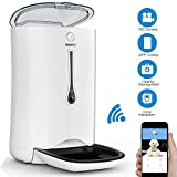SmartFeeder,Automatic Pet Dog and Cat Feeder,6-Meal Auto Pet Feeder with Timer Programmable,HD Camera for Voice and Video Recording,Wi-Fi Enabled App for iPhone and Android (White)