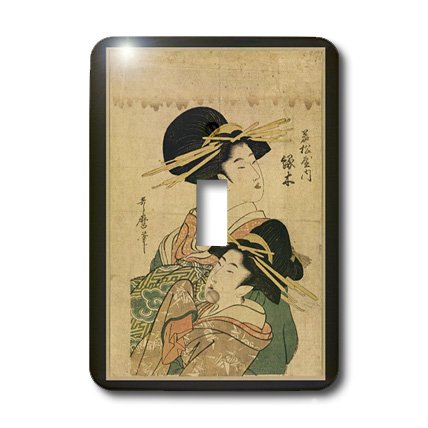 3dRose LLC lsp_44756_1 2 Vintage Oriental Ladies Single Toggle Switch