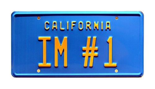 Celebrity Machines Anchorman | Will Ferrell's Pontiac Catalina | IM #1 | Metal Stamped Vanity Prop License Plate]()