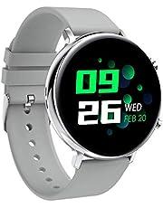 HYLK Smart Watch - Verratek Nimble 2 Smartwatch Fitness Tracker, IP68, IPS Touch Display compatibel met Android iOS, horloge voor mannen vrouwen (zilver + grijs)