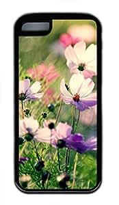 iPhone 5c case, Cute Galsang Flower 4 iPhone 5c Cover, iPhone 5c Cases, Soft Black iPhone 5c Covers by mcsharks