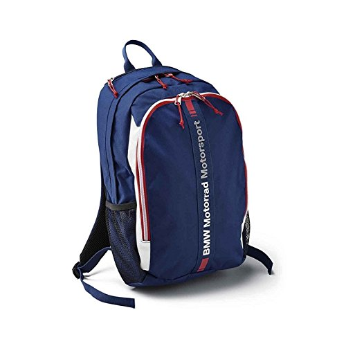 BMW Genuine Motorcycle Motorsport Bag Backpack Blue/White/Red One Size