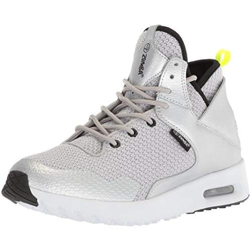 Zumba Women's Air Classic Athletic Dance Workout Shoes with Max Impact Protection Sneaker, Silver,...