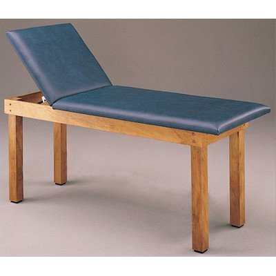 Table Treatment First Aid (First Aid Treatment Table with Adjustable Backrest Padding Color: Off-White)