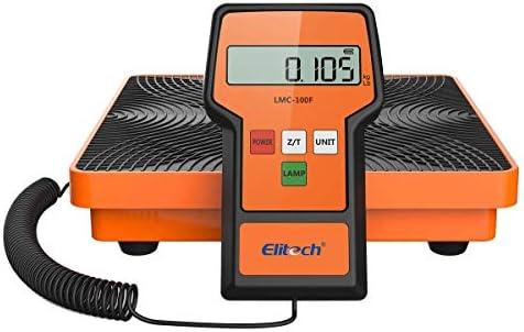 Elitech LMC-100F Digital Refrigerant Charging Weight Scale HVAC Scale 110LbsCase
