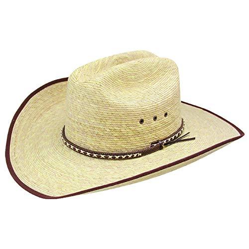 Leather Resistol - Resistol Youth Unisex Brush Hog Jr. Natural Bound Palm Cowboy Hat - RSBRSJ-B834