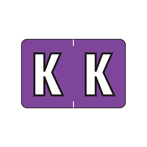 (AMZfiling Alphabetic Color Coded Labels- Letter K, Purple, Barkley ABKM and Sycom Compatible (Polylaminated, 500/Roll))