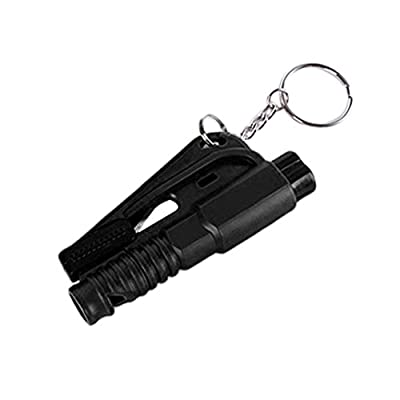 Multifunction Car Emergency Mini Safety Hammer, With Whistle Seat Belt Knife