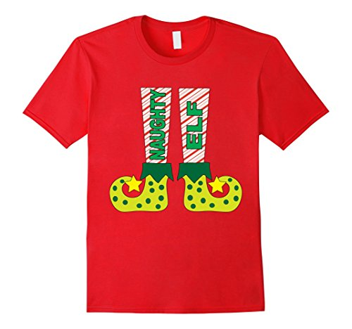 Mens Family Christmas Shirt Matching Naughty Elf Costume TShirt 3XL Red - Mens Naughty Elf Costume