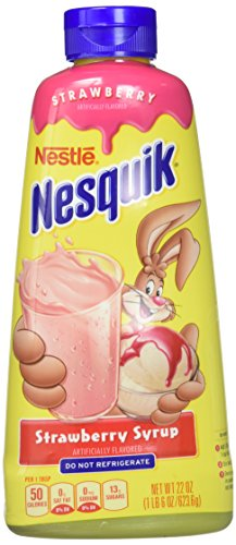 - Nesquik Strawberry Syrup, 22 oz
