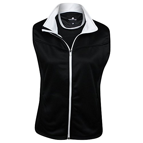 The Weather Apparel Co Poly Flex Golf Vest 2017 Women Black/White Large by The Weather Apparel Co (Image #1)