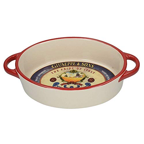 Creative Tops Gourmet Ceramic Cheese Macaroni Serving Dish Bowl ()
