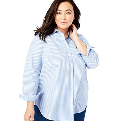 2216a49a960 Woman Within Plus Size Perfect Button Down Shirt