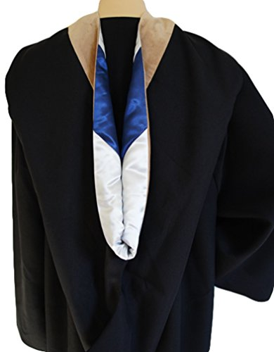 Graduation Bachelor Hood for Bachelor Degrees Silver & Blue (Drab (Business)) by GradWYSE