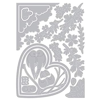 Christmas Shadow Box Sizzix Thinlits Die Set 663611 Tree Courtney Chilson One Size 20 Pack