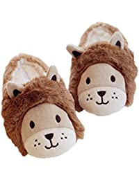 Indoor Plush Soft Sole Shoes Cute Warm House Slippers Booties