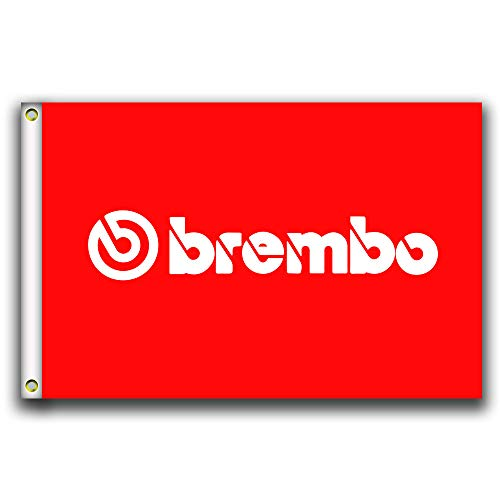 MCCOCO Brembo Red Flags Banner 3X5FT-90X150CM 100% Polyester,Canvas
