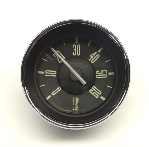 (ISP West 311018533WH - VW Type 3 Tachometer Black Face with White Needle)