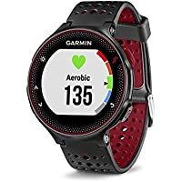 """Garmin Forerunner 235 GPS Running Watch with Wrist-Based Heart Rate, Sunlight-Visible, 5 ATM Water Rating, 1.23"""" Display, 215x180 Pixels, iPhone and Android Compatible, Marsala Silicone (010-03717-70)"""