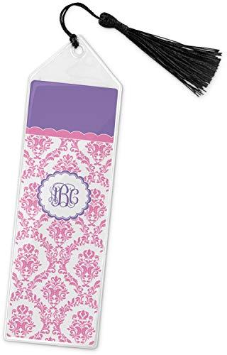 Pink, White & Purple Damask Book Mark w/Tassel (Personalized) (Design Damask Bookmarks)