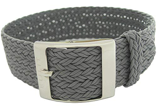 Eulit Palma 20mm Grey Perlon Watch Strap by Eulit (Image #1)
