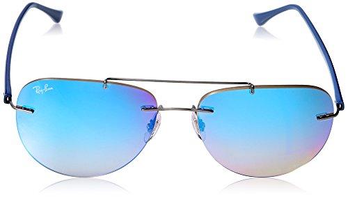 RAYBAN Men s 0RB8059 004 B7 57 Sunglasses, Gunmetal Gradient Brown Mirror  Blue  Amazon.co.uk  Clothing c70e44d86cb4