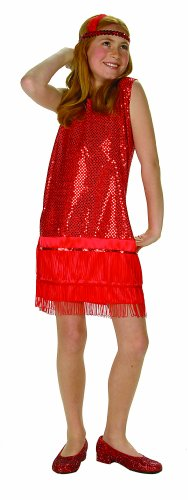 RG Costumes Sequin Flapper,Red,Large 12-14 by RG Costumes